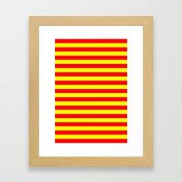 china kyrgyzstan spain flag stripes Framed Art Print