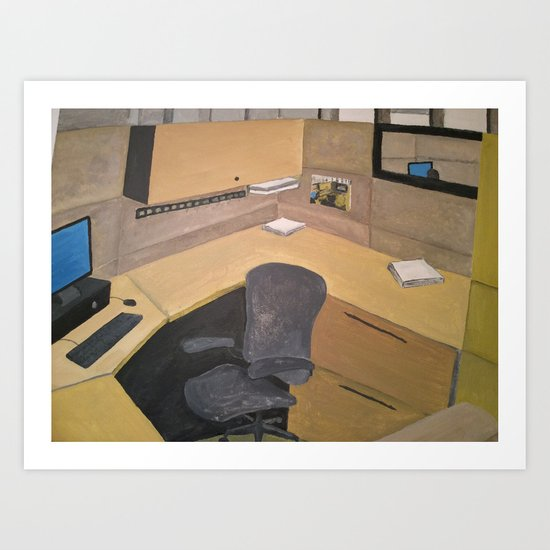 Office space Art Print