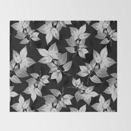Elegant Leaves Throw Blanket