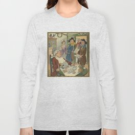 Vintage Christmas Caroling Illustration (1903) Long Sleeve T-shirt