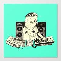 dj Canvas Prints featuring DJ  by Mr. JJ