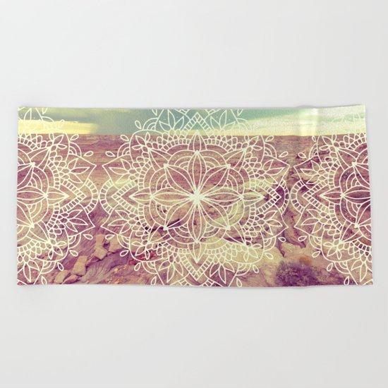 Rain Dance Desert Mandala Beach Towel
