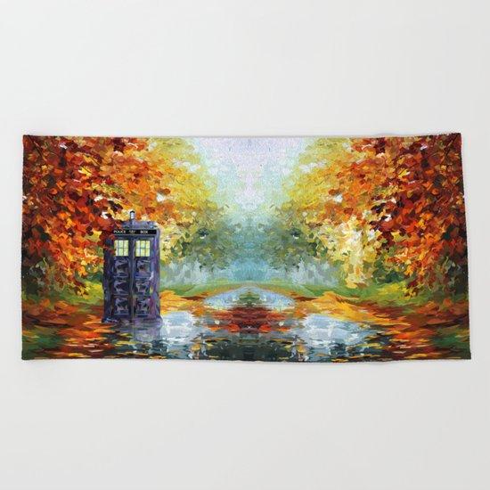 starry Autumn blue phone box Digital Art iPhone 4 4s 5 5c 6, pillow case, mugs and tshirt Beach Towel