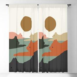 Cat Landscape 93 Blackout Curtain