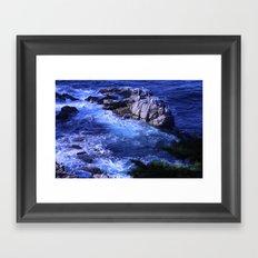 landscape with ocean Framed Art Print