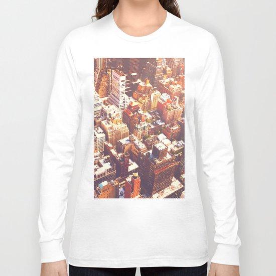 New York City Skyline Summer Long Sleeve T-shirt