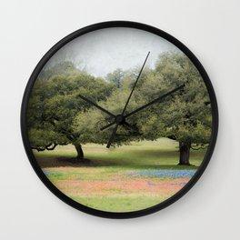 Hillcountry Bluebonnets Wall Clock