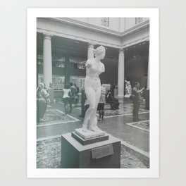 Statue at The Met Art Print