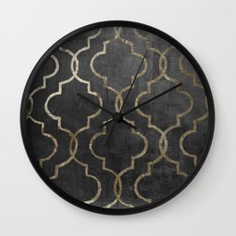 Paris Apartment Black Wall Clock