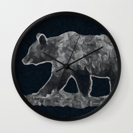 Bear on a mission Wall Clock