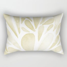 Watercolor artistic drops - yellow Rectangular Pillow