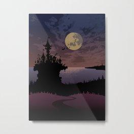 Halloween castle Metal Print