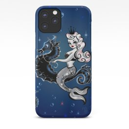 Pearla the Mermaid Riding on a Seahorse iPhone Case