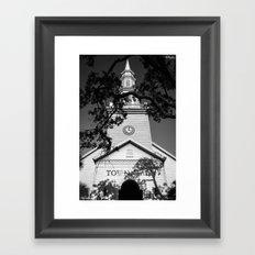 Ominous Town Hall Framed Art Print