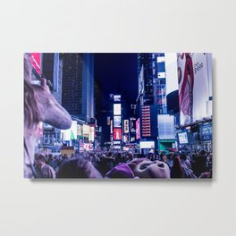 Time Square Metal Print