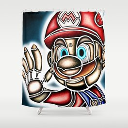 Mario Machine Shower Curtain