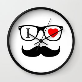 I Love Hipster Wall Clock