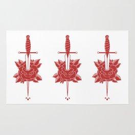Dagger in Rose (Red) Rug