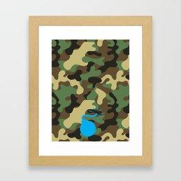 CAMO & LIGHT BLUE BOMB DIGGITY Framed Art Print