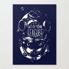 never date a diver Canvas Print