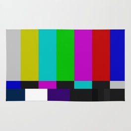 SMPTE Color Bars (as seen on TV) Rug