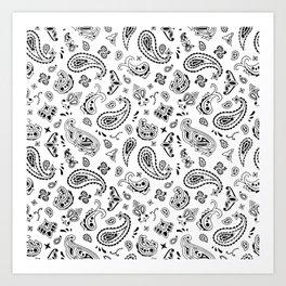 White Bandana Art Print