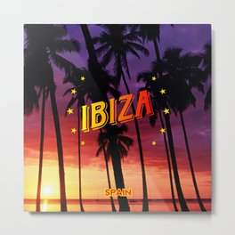 Ibiza, sunset Metal Print