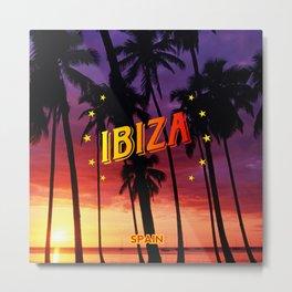 Ibiza, sunset Metal Print