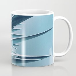 Palm Rays - Duotone Black and Teal Coffee Mug