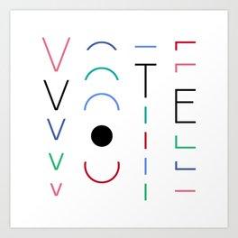 Vote Baby Vote 031516 Art Print