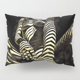2669s-AK Crouching Nude Woman Technology by Chris Maher Pillow Sham