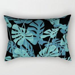 Graphic Monstera leaves. Rectangular Pillow