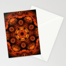 Burning jellyfish kaleidoscope Stationery Cards