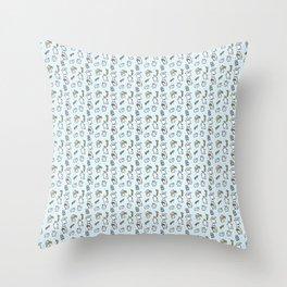 Repeat Rabbit Doodle Throw Pillow