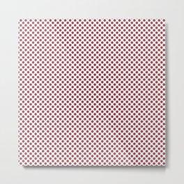 Deep Garnet Polka Dots Metal Print