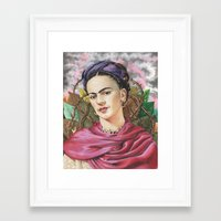 frida Framed Art Prints featuring Frida by Mark Satchwill Art
