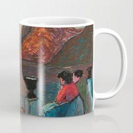 'Romantic Alpine Sunset' Landscape Painting by Marianne Von Werefkin Coffee Mug