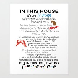 In This House We Do FRIENDS Art Print