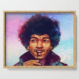 Jimi Hendrix - Digital Drawing Serving Tray