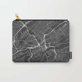 Knoxville Map, USA - Gray Carry-All Pouch