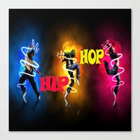 hip hop Canvas Prints featuring Hip Hop by ezmaya