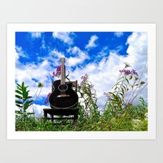 Playing the Field Art Print