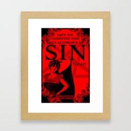 Sin Poster Framed Art Print