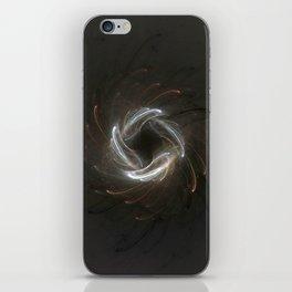 Metallic Swirl Fractal iPhone Skin