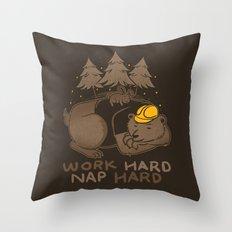 Work Hard Nap Hard Throw Pillow