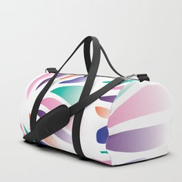 Multicolor Floral Zenspire Swirl Shell Design Duffle Bag