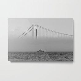 Tug at a wall of fog  - NYC Metal Print