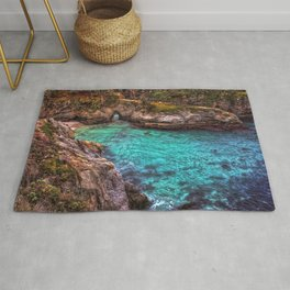 Images California USA Sea Crag Nature Cove Rock Cl Rug