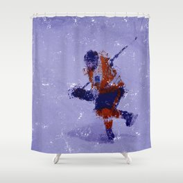 Eyes on the Prize - Ice Hockey Player Shower Curtain