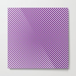 Winterberry and White Polka Dots Metal Print
